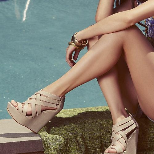 XCESS BONE women's sandal high wedge - Steve Madden