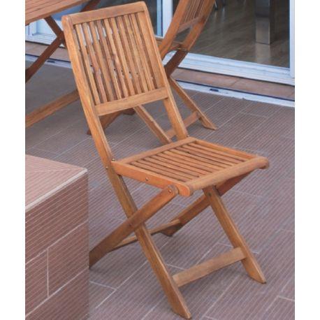 silla de jardin madera tropical acacia fscsillas jardin de terraza balcon