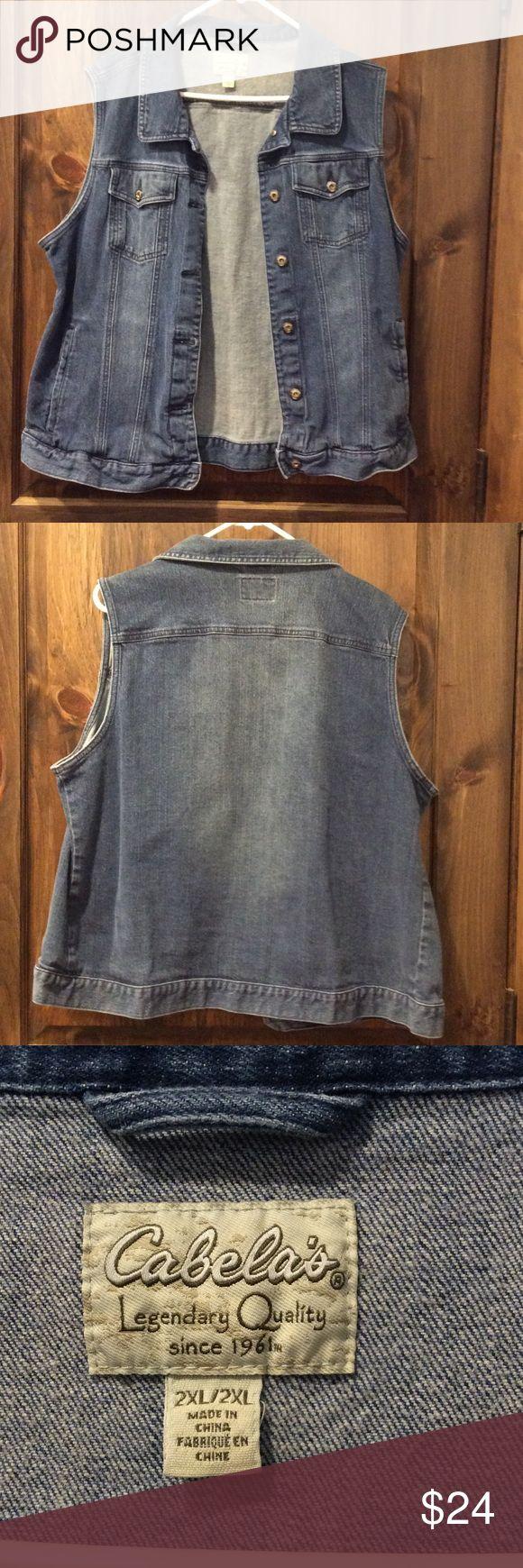 Cabela's Denim Vest Cabela's Denim Vest Cabela's Jackets & Coats Vests