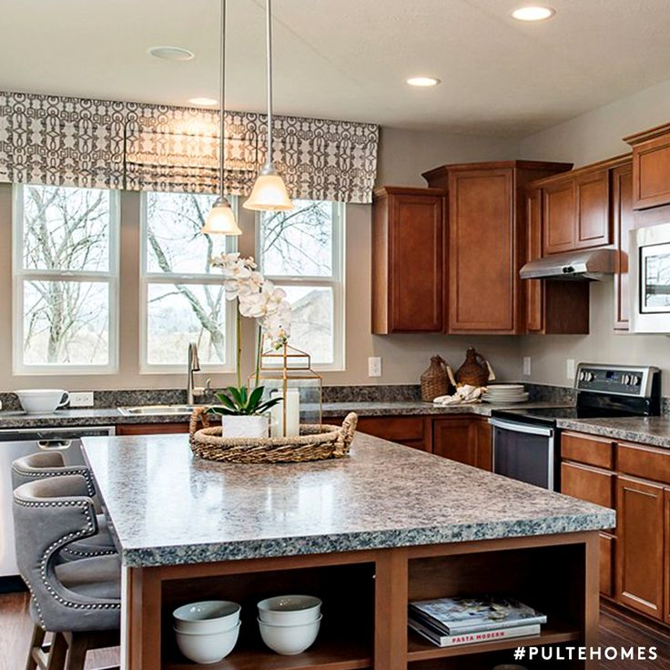 A Large Island With Ample Storage Adds Function And Style To Your Kitchen Pulte Pulte Homeskitchen Artkitchen Ideaskitchen Designs