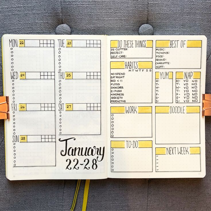 "Nicole  (@bujo_blossoms) on Instagram: ""Getting ready for next week!  . I switched things up a bit with this spread... . A new layout…"""