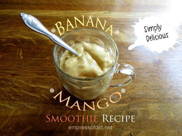 Banana Mango Best Smoothie Recipe
