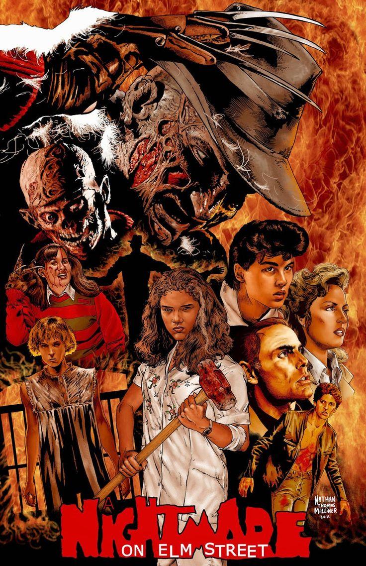 A Nightmare On Elm Street Horror Movie Art A Nightmare On Elm Street Nightmare On Elm Street