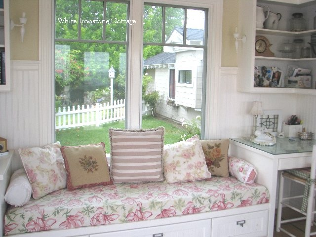 Where Bloggers Create 2012   ♥ White Ironstone Cottage