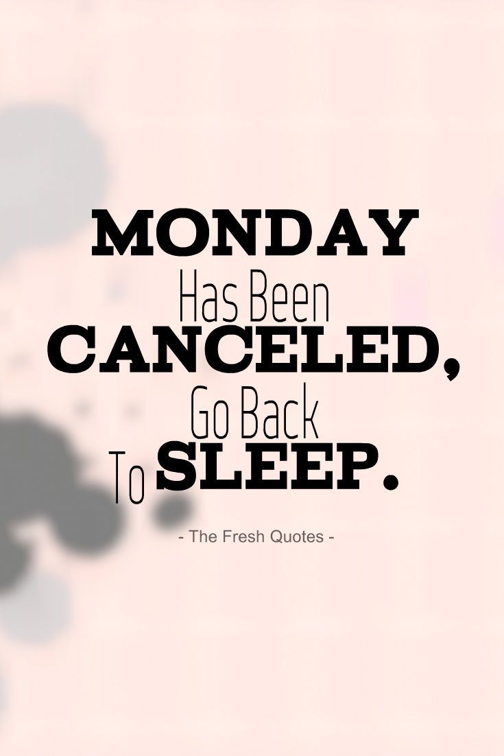 Monday Has Been Cancelled, Go Back To Sleep monday monday quotes monday pictures monday images