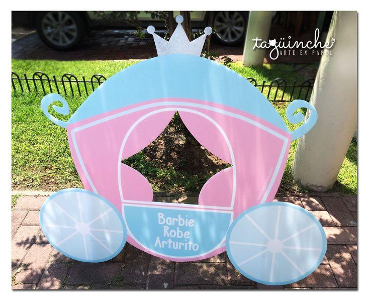 Marco para fotos, carroza de princesa  www.taguinche.com