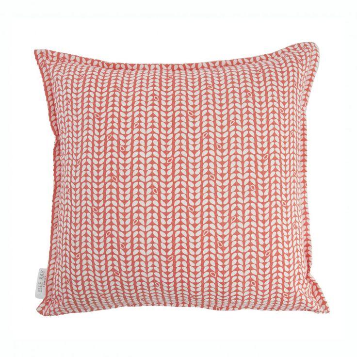 Elle Kay Fabrics Speck Tangerine Scatter Cushion