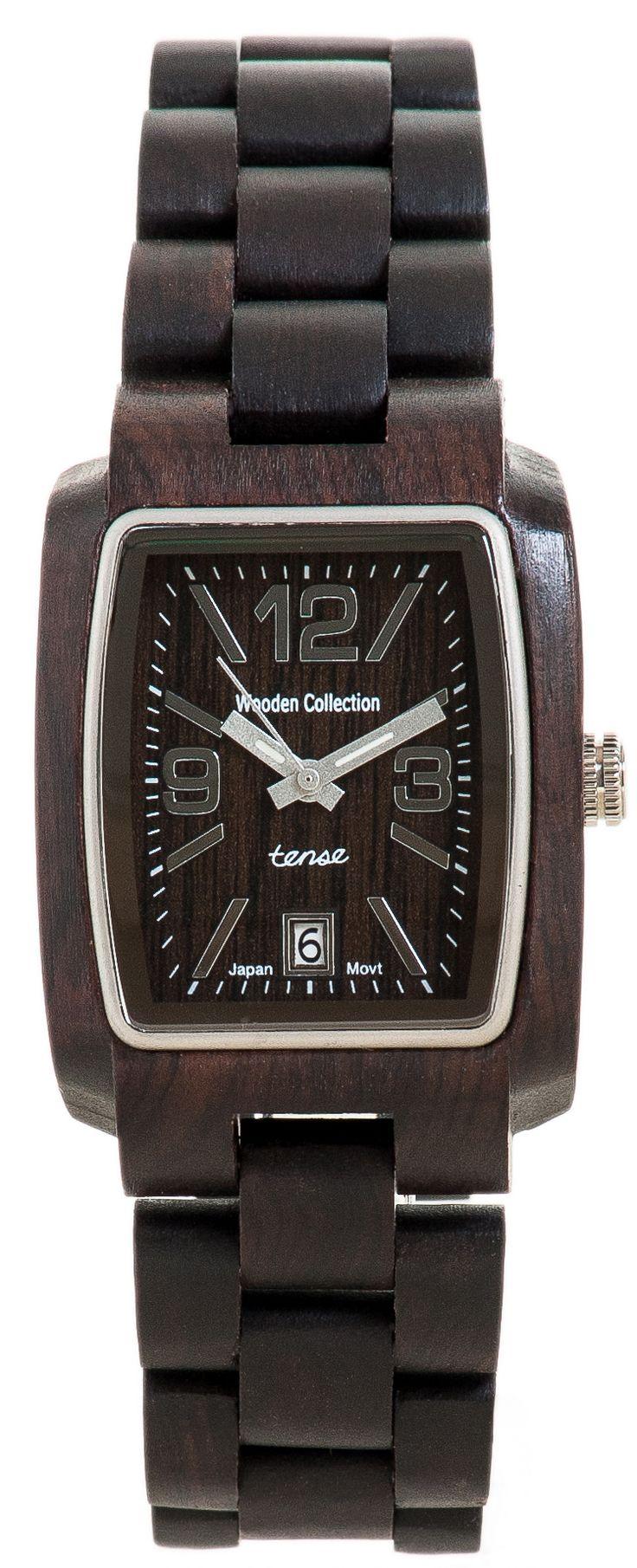 Tense Men's Timber Watch in Dark Sandalwood - $139 at tensewatch.com.