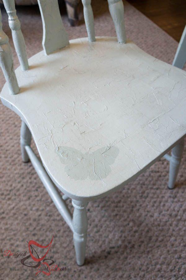 Tissue Paper Decoupage Chair! - - Designed Decor