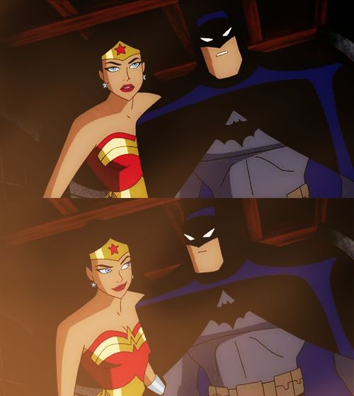 Batman & Wonder Woman...was there a moment between them? Nah!!!