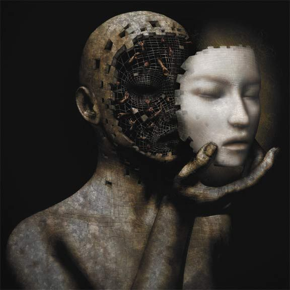David Ho: Self Image, David I, The Faces, Digital Art, Masks, Darkside, Dark Side, Dark Art, Darkart