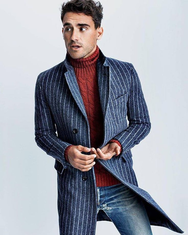 #gq What to Wear Today: A chalk-stripe topcoat that gets every look in line. (📸@tomschirmacher) #WTWT #OOTD