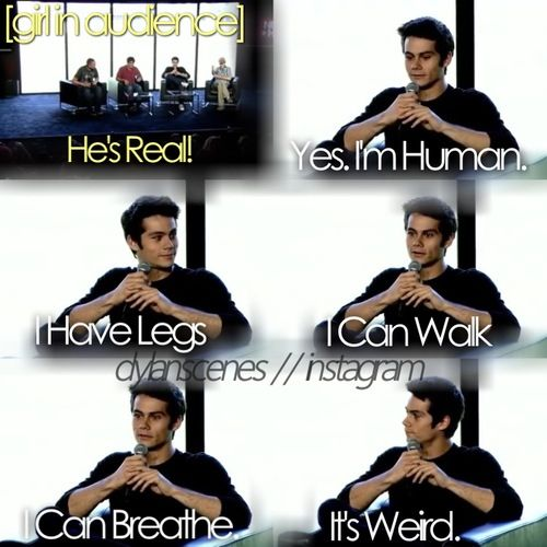 Dylan you are just so perfect that it is hard to believe you ARE real lololol So real!! <3