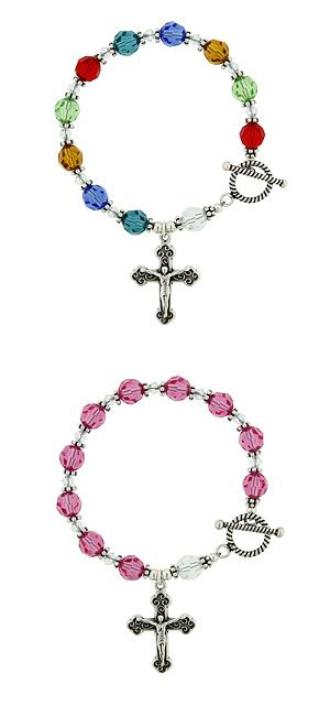 Silver Birthstone Crystal Rosary Bracelet - this would make a beautiful and meaningful gift.