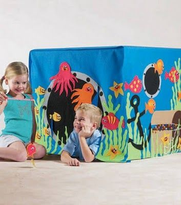 Under-the-sea playhouse... made of felt! #tutorial