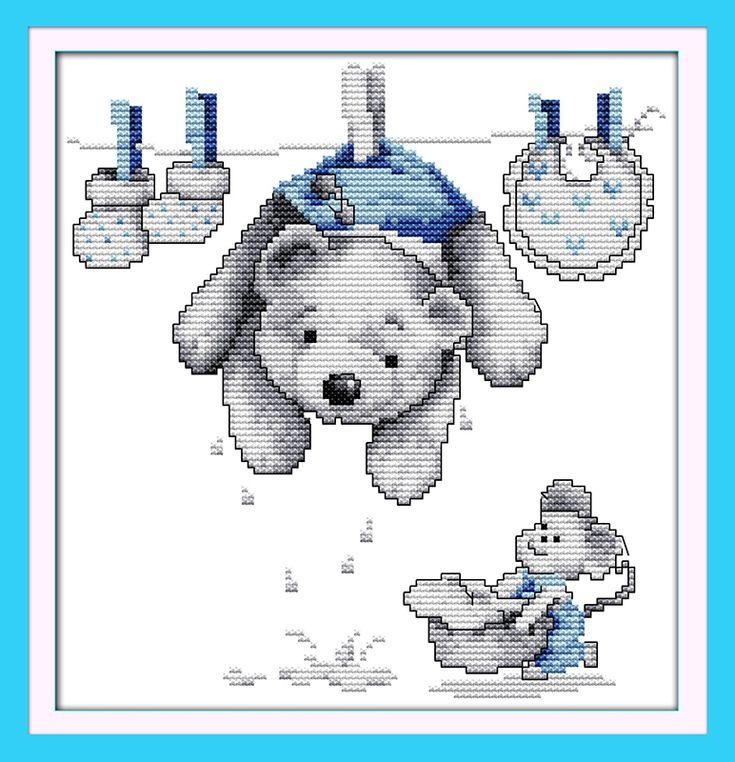 Risultati immagini per orsetti da ricamare a punto croce