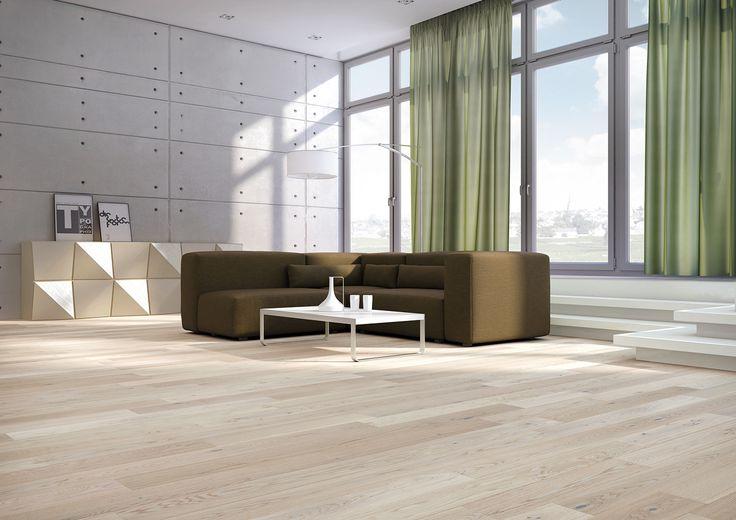 Baltic Wood, Sélection Du Sommelier, N°4 Chenin Blanc Lita podłoga dębowa, uszlachetniona białym olejem ECO. Struktura drewna jest wyraźnie zaznaczona dzięki procesowi szczotkowania.