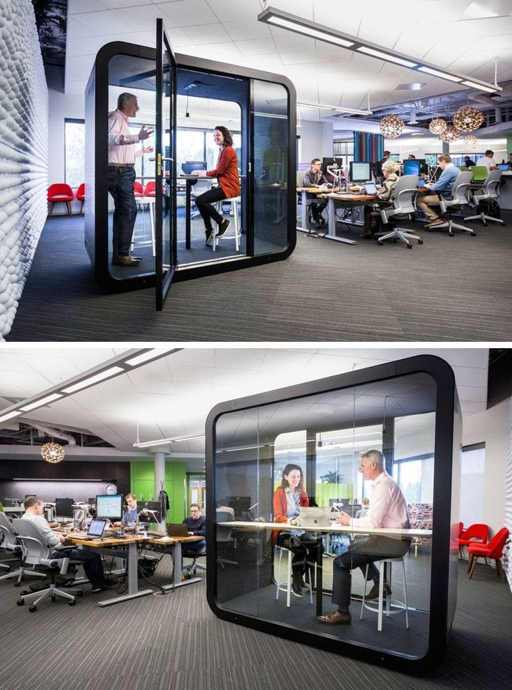 These Soundproof Phone Booths And Meeting Pods Are