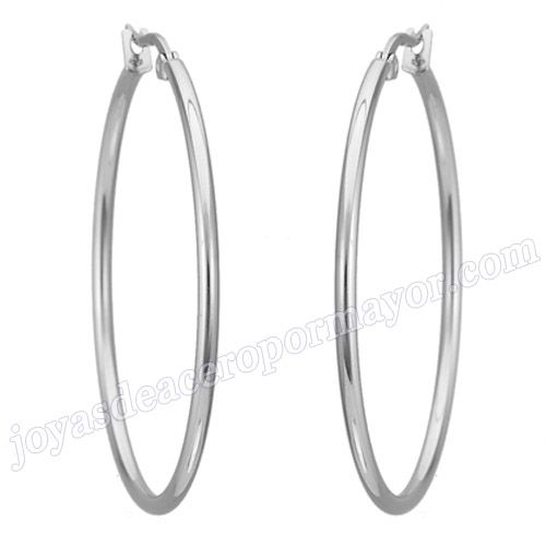 Material:Acero Inoxidable     Nombre:35MM Acero aros para dama de moda 2013   Model No.:SSEG059   Talla:35mm   Peso:6.9g/pair