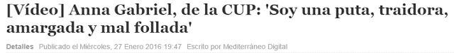 """WEBSEGUR.com: ESPECTÁCULO CUP, """"SOY UNA PUTA TRAIDORA"""""""
