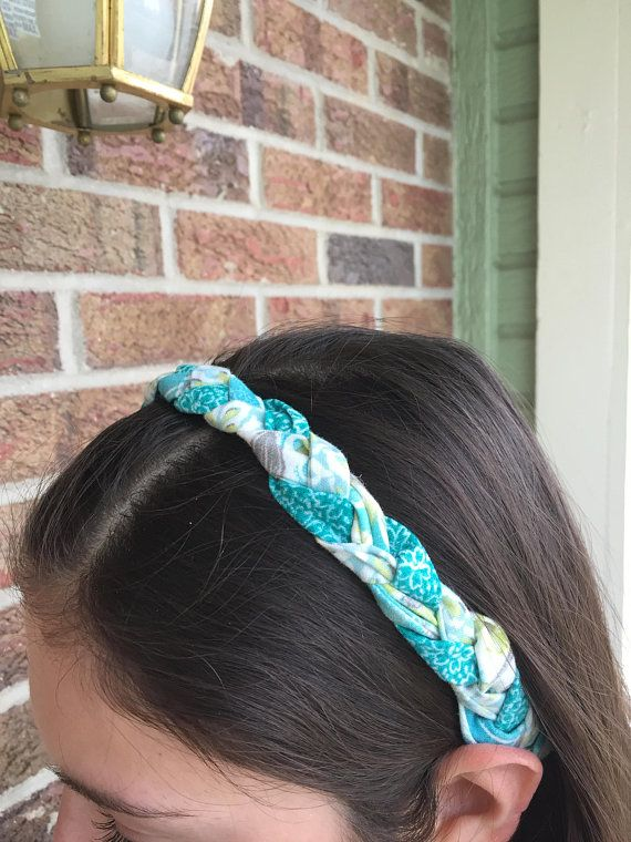 Turquoise Green Braided Headband Yoga Workout Gifts For Her Under 20 15 10 Running Cute Hair Accessories