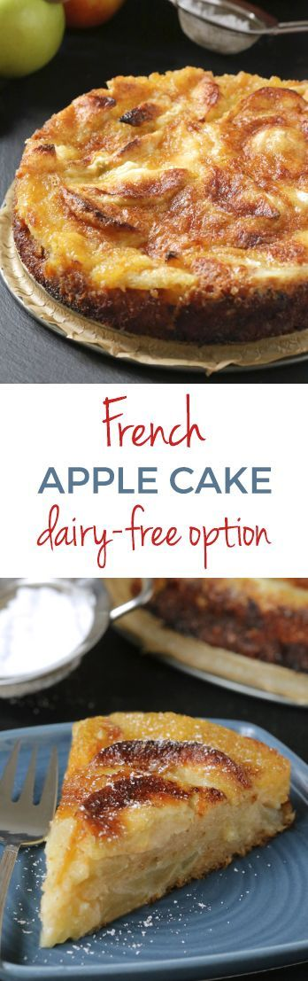 This simple French apple cake is like a crustless pie with a crunchy topping. Can be made 100% whole grain (or with all-purpose flour) and dairy-free.