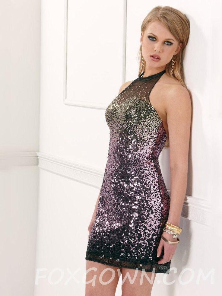 Amethyst Pailletten mit Mesh kurze Cocktail Homecoming Kleid 💟$239.60 from http://www.www.dazukleider.de   #bridal #pailletten #homecoming #bridalgown #kleid #mit #amethyst #wedding #mesh #kurze #weddingdress #mywedding #cocktail