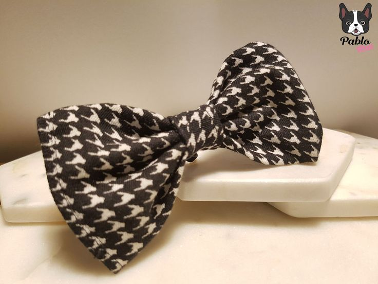 Houndstooth || Dogtooth || Cat or Dog BOW TIE || By Pablo Pets || Wedding Bride  #PABLOPETS