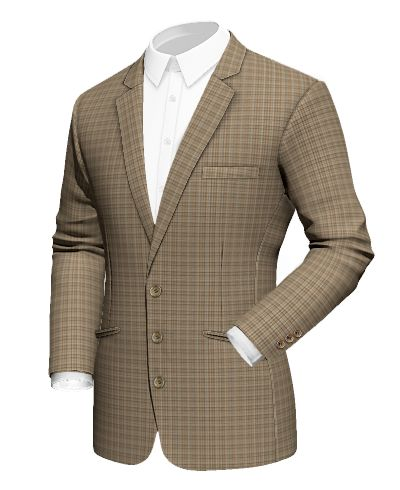 Brown checked wool Blazer http://www.tailor4less.com/en-us/men/blazers/3079-brown-checked-wool-blazer