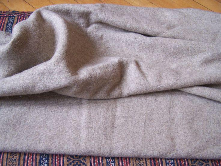Handwoven sheep wool cloth...