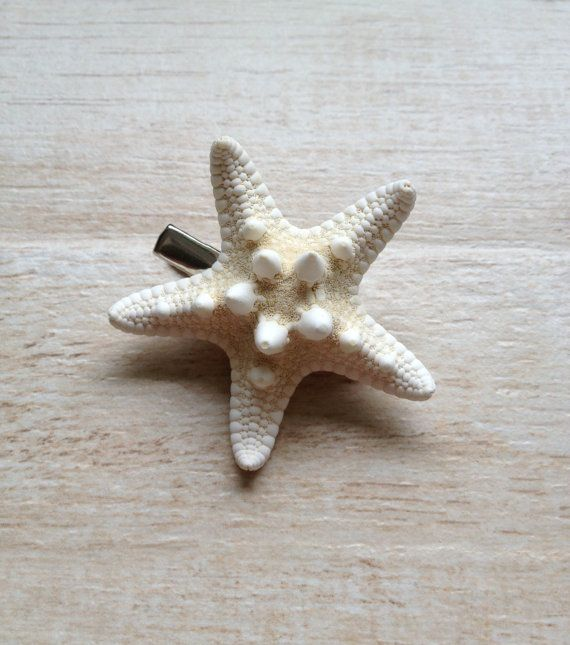 Starfish Hair Clip Beach Wedding Hairstyle by BeachDaisyJewelry