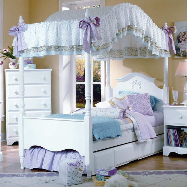 Carolina Furniture Works Cottage Full Princess Canopy Bed CW-417140_147143_419400_964000