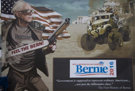 SPONTANEOUS BERNIE SANDERS RALLY BREAKS OUT AT COMIC-CON - July 12, 2015 (Warren Rojas/CQ Roll Call)