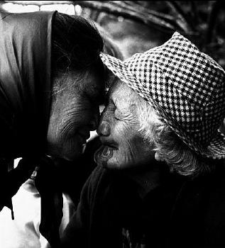 Photo of a couple of beautiful Maori kuia Turangawaewae Marae 1963 Photograph by Ans Westra