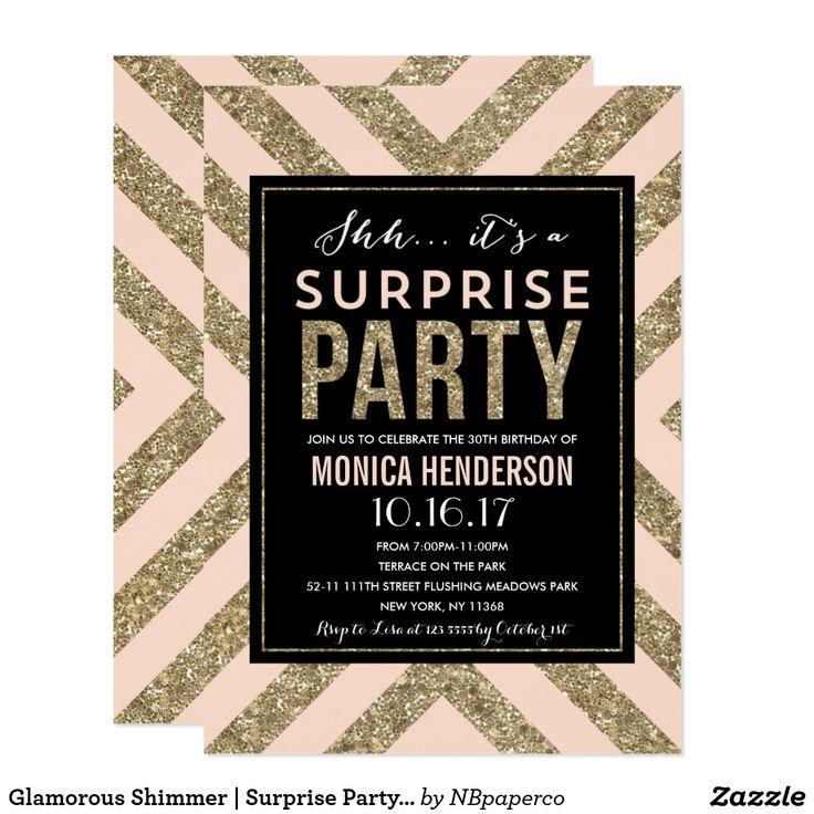 60 best Surprise Party Invitations images on Pinterest   Surprise ...