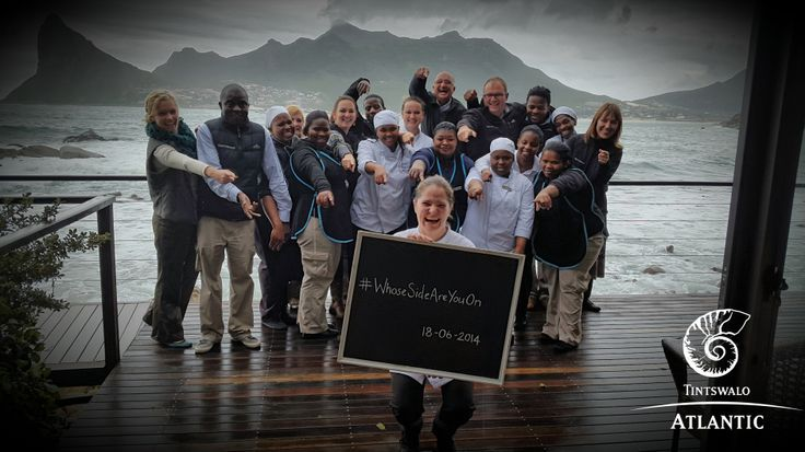 Tintswalo Atlantic supports United for Wildlife #WhoseSideAreYouOn !