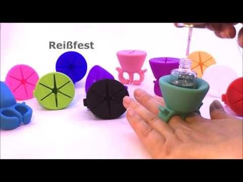 Silikonring Nagellack-Flaschenhalter - YouTube