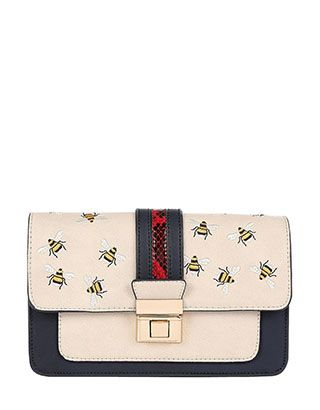 Create a buzz about your style with our Rose bee cross-body bag. In a chic and classic boxy design with a colour-block flap and metal lock, this carryall is ...