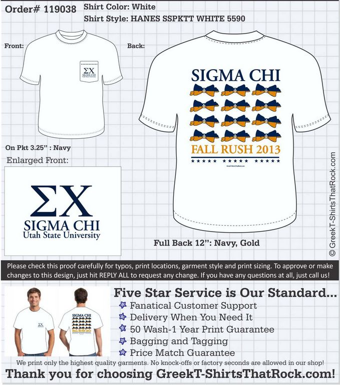 Fraternity Bows Sigma Chi Fall Rush Southern Gents