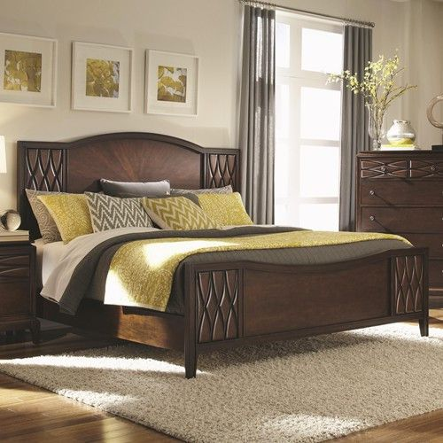 the beautiful biscayne bay bedroom set features a gorgeous rich brown finish and luxurious features like dovetail feltlined drawers and a quilted diamond