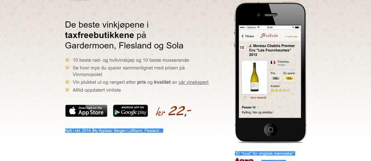 En applikasjon for gode vinkjøp
