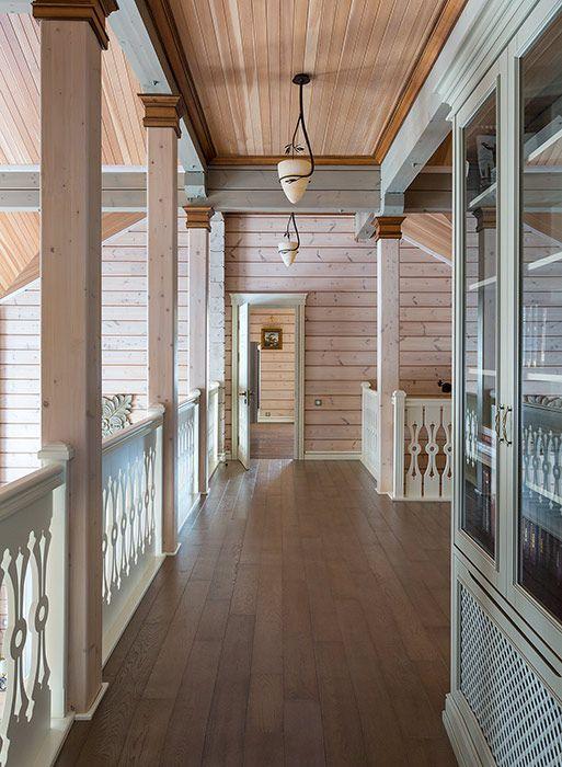 Деревянный дом из сосны с двусветной гостиной и камином   Дома из клееного бруса   Журнал «Деревянные дома»