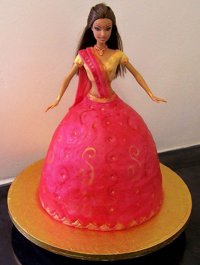 how to make barbie doll cake in hindi