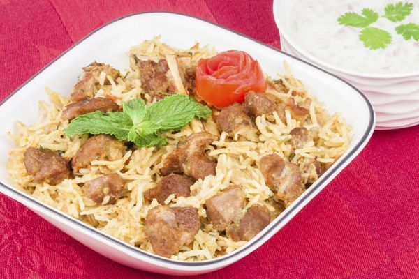 Biryani - Recipe of Cooking Biryani a Traditional Eid Dish.