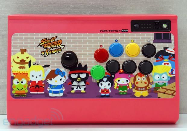 Cute quotient overload eyeson with the Street Fighter x Sanrio Fightstick for Xbox 360