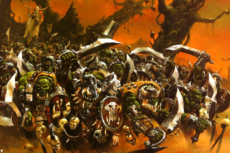Orc Boyz by Adrian Smith | Art of Warhammer