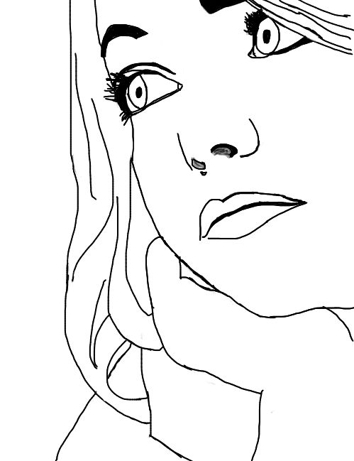 Outlines Emma Stone