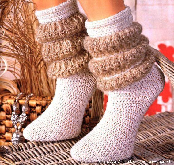 meia de croche graficoCrochet Slippers Socks, Crochet Gold, Post, Crochet Doro, Носки Крючком, Гольфы Крючком, Связать Носки, Крючком Дневник, Crochet Boots