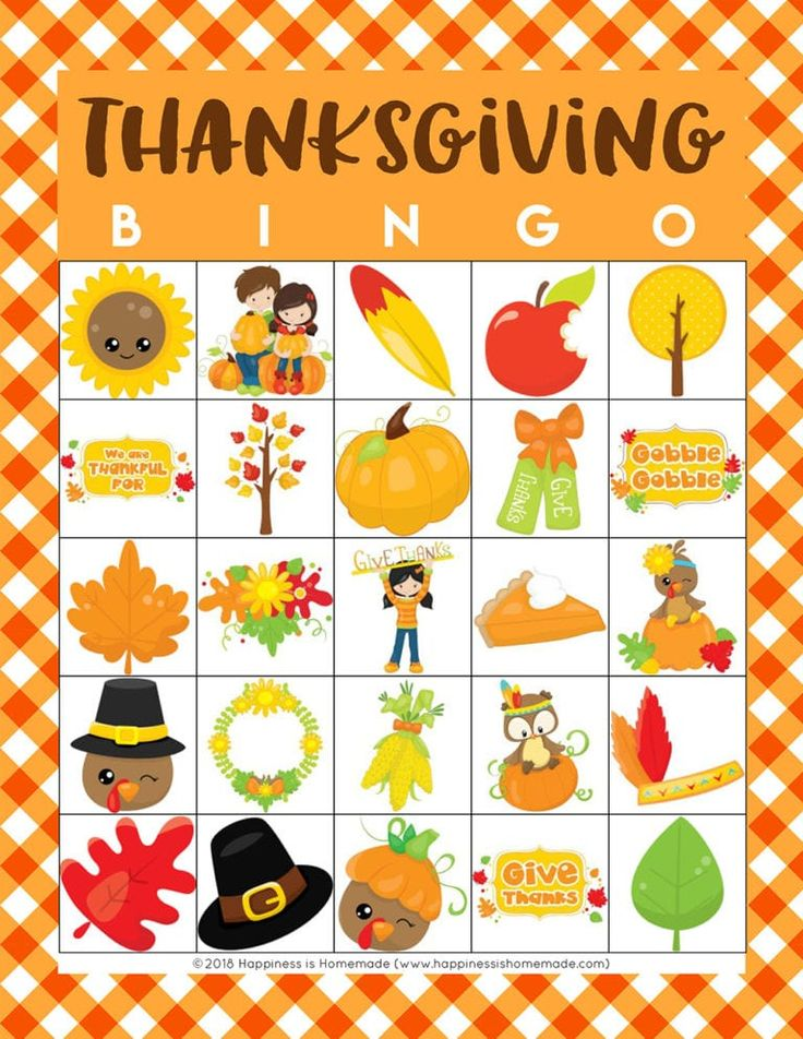 It is a photo of Influential Free Printable Thanksgiving Bingo