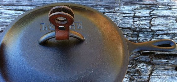 Handmade Leather Pot and Pan Lid Lift Pot by arcadiancraftsman, $23.00